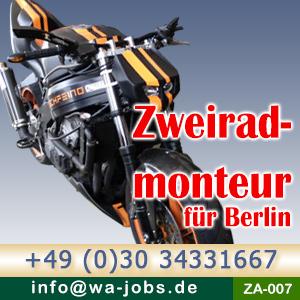 monteur m w f r motorradfertigung in berlin spandau wa jobs private arbeitsvermittlung berlin. Black Bedroom Furniture Sets. Home Design Ideas