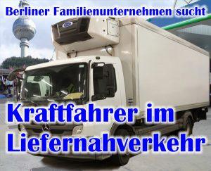 Berliner Familienunternehmen sucht Kraftfahrer im Liefernahverkehr