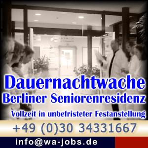 Dauernachtwache M W In Vz Fur Seniorenwohnheim Berlin Wa Jobs